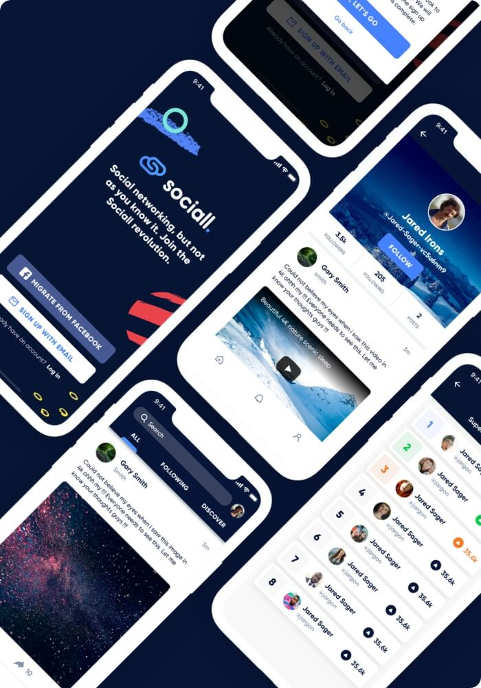 Our work Sociall.io App image